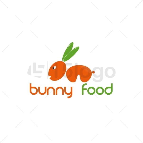 Bunny Food Logo Template