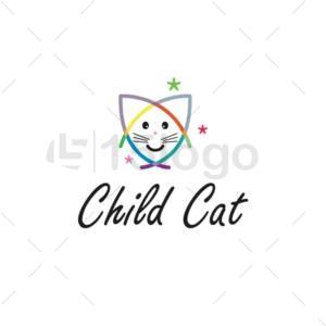 child cat creative logo