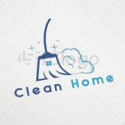 clean home logo design