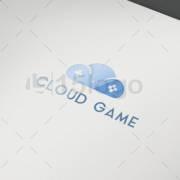cloud game logo design