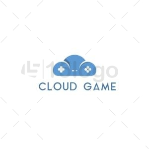 cloud game logo design