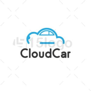 cloud car logo design