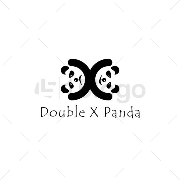 double x panda logo