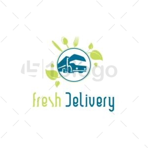 fresh delivery logo template