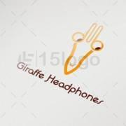 giraffe headphones logo design
