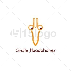 giraffe headphones logo design