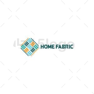 home fabric logo template
