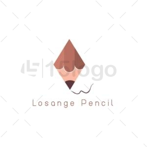 losange pencil logo template