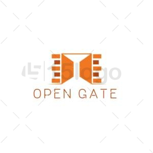 open gate logo design