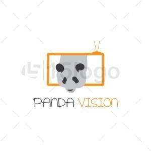 panda vision logo design