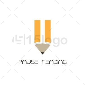 pause reading logo design