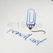 pencil art logo design