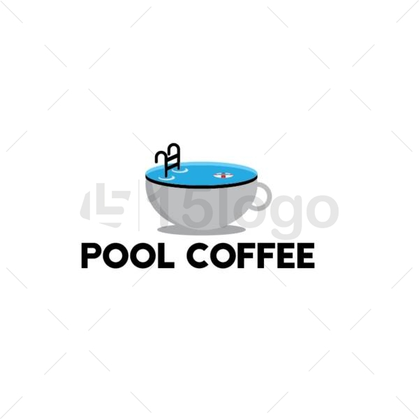 pool coffee logo template