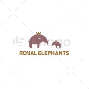 royal elephant logo template