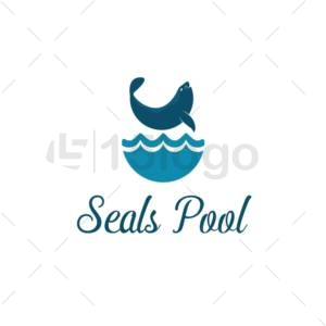 seals pool logo template