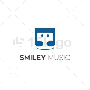 smiley music creative logo