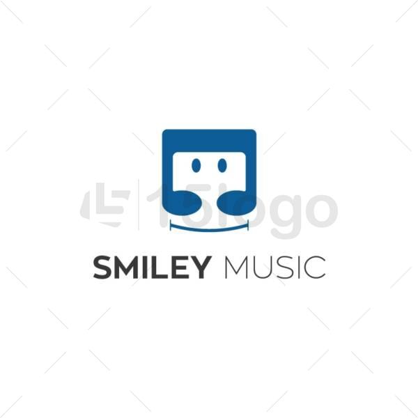 smiley music creative logo