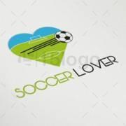 soccer lover logo template