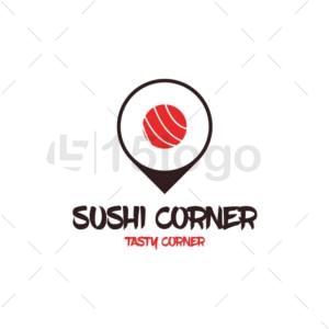 sushi corner creative logo