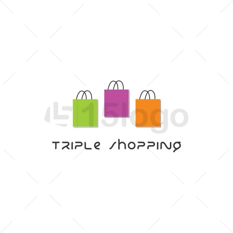 Triple Shopping Logo Design