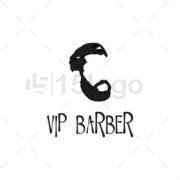 vip barber logo design