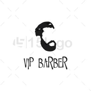 vip barber logo design