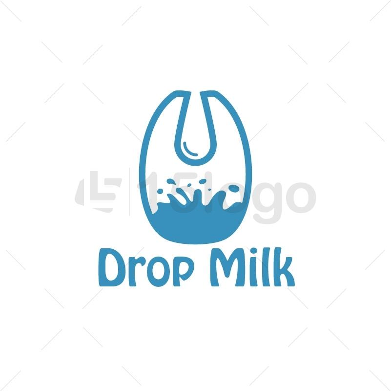 Drop Milk Logo Design