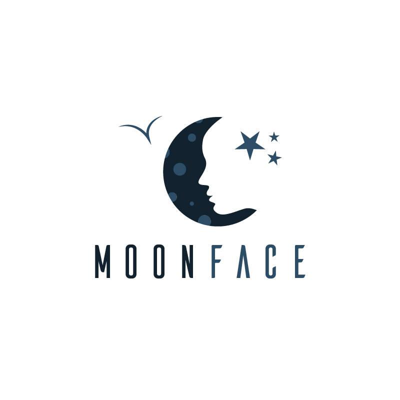Moon Face Creative Logo