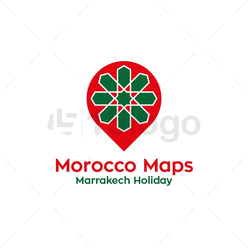 Morocco Maps Logo Design
