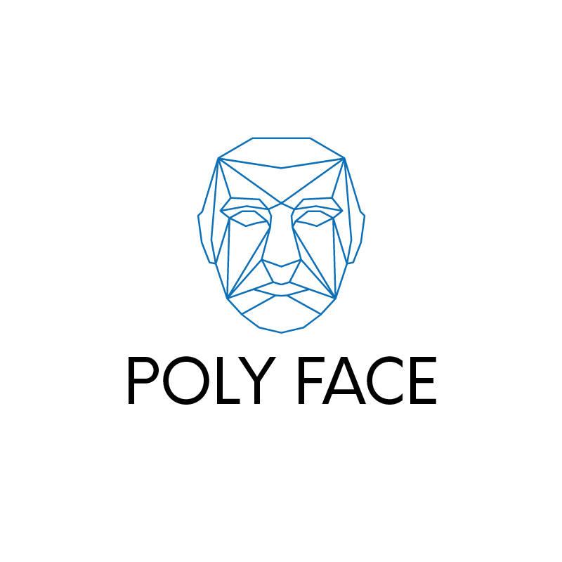 poly face logo template