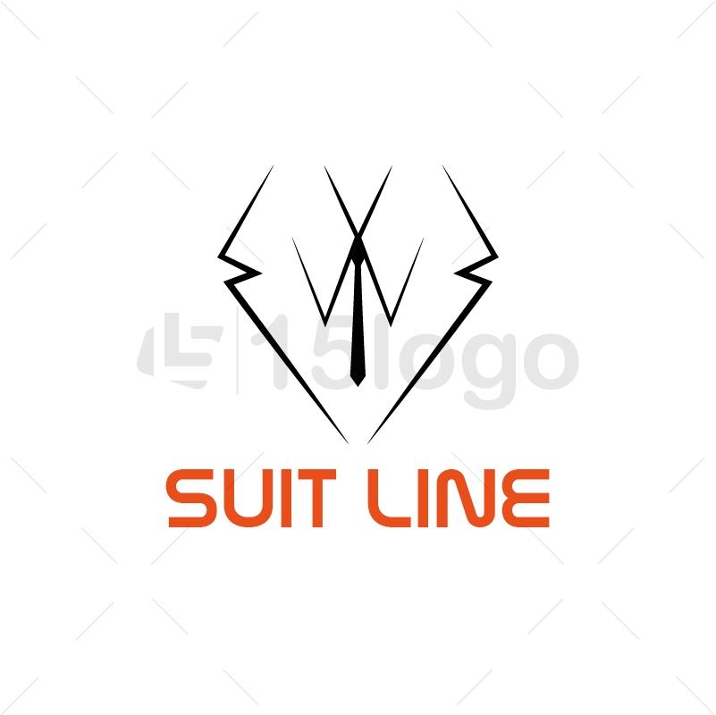 Line Logo Design : Suit line logo design