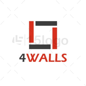 4 walls Logo Design