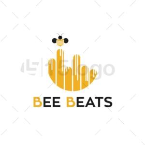 bee beats creative logo