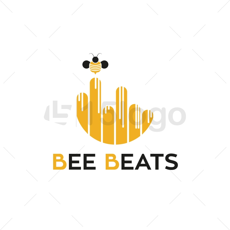 Bee Beats Creative Logo