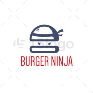 burger ninja creative logo