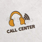 call center logo template