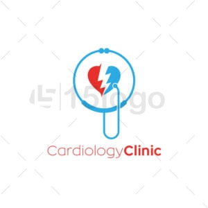 cardiology clinic logo design