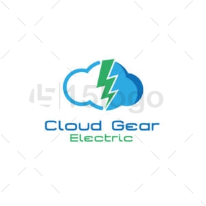cloud gear logo template