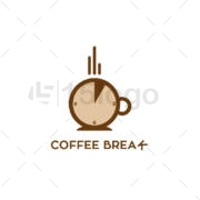 breark coffee logo template