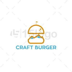 craft burger logo design