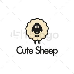 cute sheep creative logo