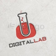 digital lab logo design