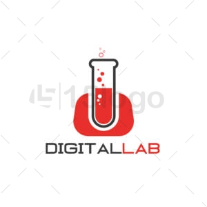 digital lab logo design