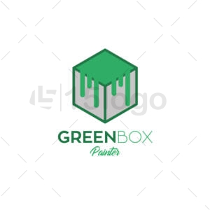 green box logo template