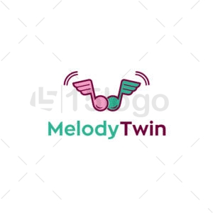 melody twin creative logo