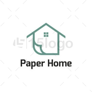 paper home logo template