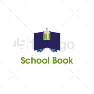 school book logo template