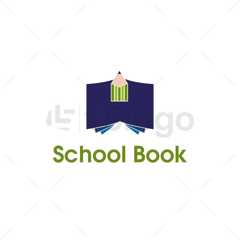 School Book Logo Template