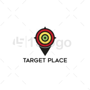 target place logo design