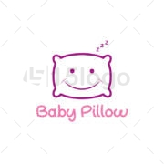 baby pillow logo design